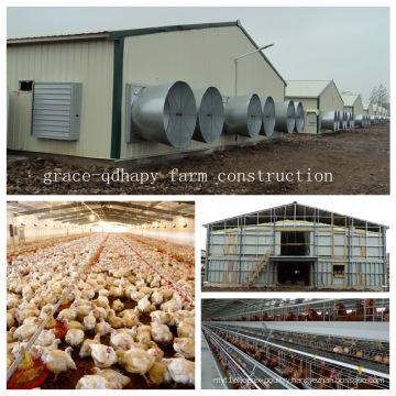Steel Structure Chicken Farm House for modern Farm