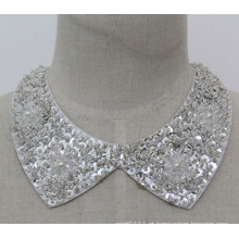 Moda feminina bijuterias costura gargantilha robusto gargantilha colarinho falso (je0139-1)