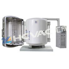 Máquina de revestimento plástica descartável da colher da câmara dobro vertical e da vácuo da forquilha PVD