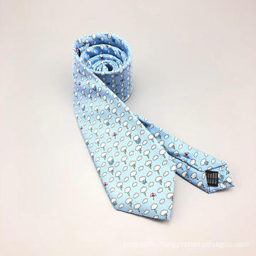 Handmade Silk Custom Print Tie with Self Tipping