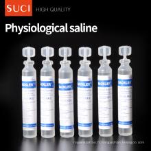 CE approuvé saline normale physiologique d'emballage indépendant de 0.9% NS 15ml