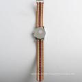 Hot sales watch nylon strap stainless steel watch back nylon wristband watch