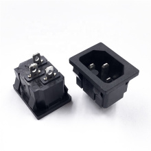 3 Pin IEC320 C14 Inlet Module Plug  Male Power Socket 15A 250V For Lab Equipment