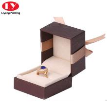 Elastic Close Luxury Ring Jewelry Boxes