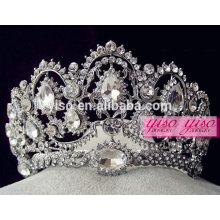 Belo desfile cristal atacado moda rhinestone coroas