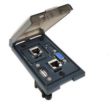 Multi panel socket combination RJ45 Jack and D-SUB