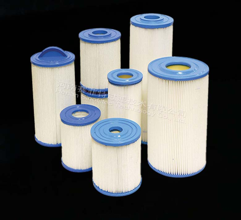 Blue Polyester Filter Cartridge