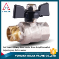 brass ball valve TMOK Butterfly/T handle Female BSPP Full bore sanitary forged WOG600 water shut-off valve CW617n