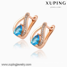 92031 Hot Sale Fashion Elegant Heart-Shaped Cubic Zircon Rose Gold-Plated Jewelry Earring Huggie