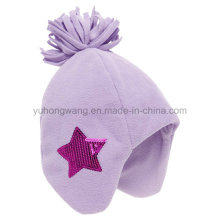 Invierno de moda tejida polares fleece sombrero / tapa con bola de tejer