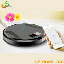 2016 The Thinnest Body APP Controlled Robot Vacuum Cleaner for Home