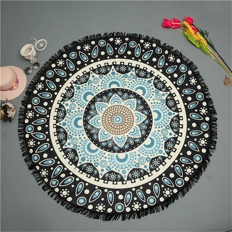 Round Beach Towel Mandala