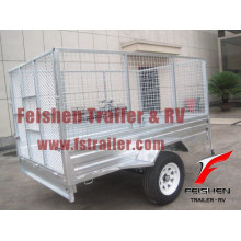 Ramp cage trailer / cage trailer with ramp (hot dip galvanized)