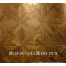 Layered solid wood parquet flooring N1068 BLACK WALNUT PARQUET FLOOR OAK