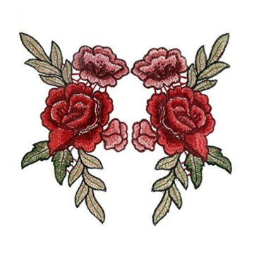 Kinesiska Peony Flower Applique Broderade Patches