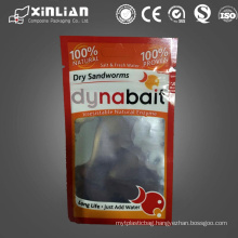three side seal laminated plastic ziplock bag with clear window