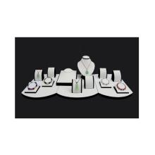 Venta caliente de la PU MDF blanco joyería plataforma visualización al por mayor (WS-TA)