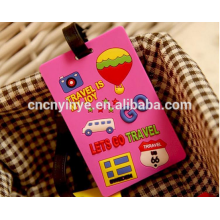 Etiqueta de equipaje personalizado 3D goma suave del pvc / caucho bolsa etiqueta / etiqueta del equipaje del pvc