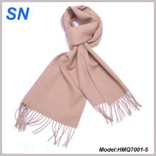 Unisex invierno sólido caliente Pashmina bufanda de lana