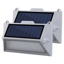 Перезаряжаемый двойной датчик PIR Led Солнечный настенный светильник