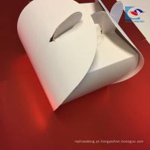 Caixa de empacotamento cor-de-rosa pequena personalizada do bolo de papel de arte do logotipo