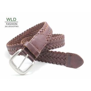 Fashion Basic Braided Genuine Top Leather Lady Belt Lky1169