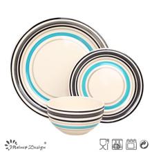 18PCS Handpainted Stoneware Dinner Set
