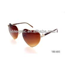 Коричневый цвет в форме сердца металлические солнцезащитные очки оптом Alibaba