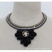 Ladies High Quality Crystal Choker Pendant Necklace (JE0176)