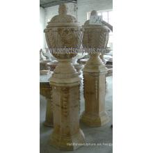Maceta de mármol de piedra para muebles de jardín (QFP280)