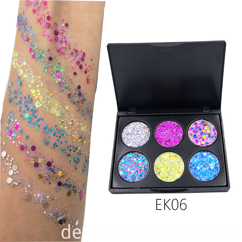 6 Colors Gligger Eye Shadow 3