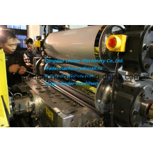 PP PE Thin Sheet Extrusion Line / Double Position Winder / 0.2-2.0mm / T-Die Head