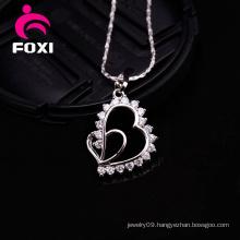 Heart Shape Simple Design Gold Pendant Charms
