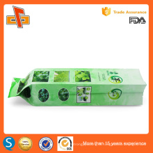 FDA approved custom printing chinese side gusset empty herbal tea packaging bag