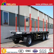 Turntable Flatbed Cargo Transport Draw Bar Trailer with Side Posts