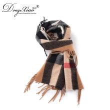 Meilleure vente promotionnel prix unisexe mode laine mérinos vérifié écharpe