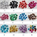 Wholesale Aluminum Rose Flower Beads Jewelry Making Spacer Beads