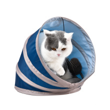 Pet Leisure And Entertainment Oxford Fabric Plush Foldable Cat Tunnel With Toys