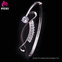 Good Quality Fashion White CZ New Gold Bracelet Bangle