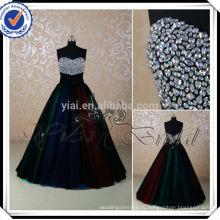 RSE223 цвета радуги юбка горный хрусталь Украшения для бальное платье вечернее платье 2014