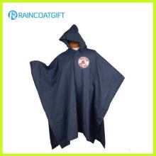 Waterproof Vinyl Hooded Reusable PVC Rain Poncho