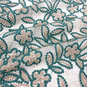 Tela de bordado de malla francesa para vestidos