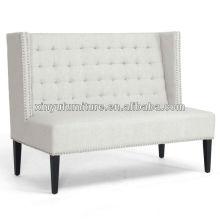 Modern white high back loveseat furniture XY0381