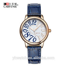Wasserdichte Unisex Lady Leder Armbanduhren für Edelstahl