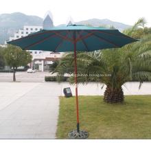 Round 3M Classic Style Garden Wooden Umbrella