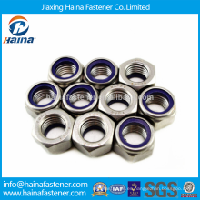 Mejor Precio Stock DIN985 Stainless Steel Hex Nylon Insert Nuts