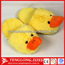 Grandes pantuflas oscuras amarillas zapatillas de interior de invierno de felpa