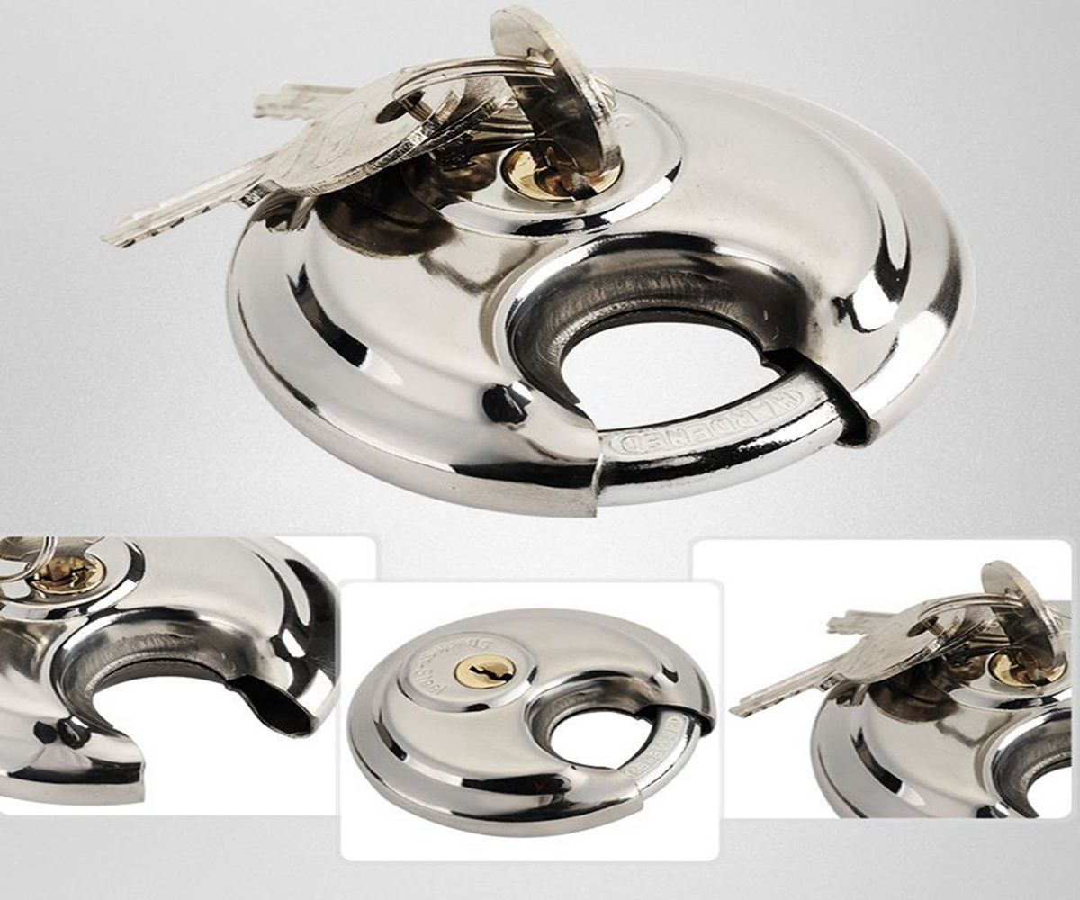 Stainless Steel Dsic Shape Padlock