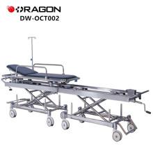 Nouvelle conception DW-CT002 CE et ISO ont approuvé le transfert manuel d'hôpital reliant le chariot patient
