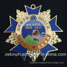 High Quality Zinc Alloy Metal Star Shaped Badge Pin Medal